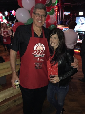 Mike Cvik, Retired (29 years) NHL Linesman + myself supporting the 14th Annual Eric Francis Pizza PigOut Fundraiser in support of KidSport, Cowboy's Casino October 19 2016