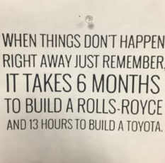 6-months to build a Rolls, 13 hours to build a Honda