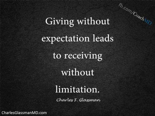 Giving without expectation leads to receiving without limitation