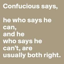 Confucious says...